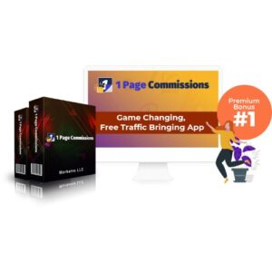 1 Page Commissions App – Profit In No Time